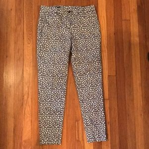 Ankle-length Brooks Brothers floral pattern pants